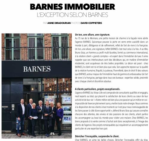 BARNES Lille dans le magazine Automne-Hiver d'Eccelso